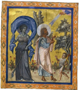 Nyx alongside the Prophet Isaiah in the 10th century Paris Psalter