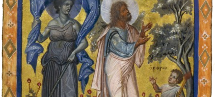Nyx alongside the Prophet Isaiah, 10th century Paris Psalter